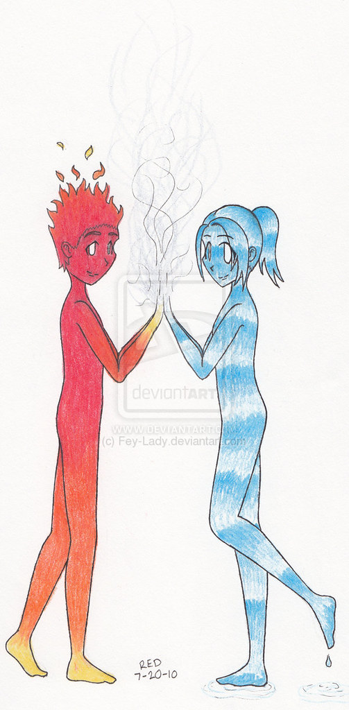 Fire Boy and Water Girl wallpaper | Fire Boy and Water Girl … | Flickr