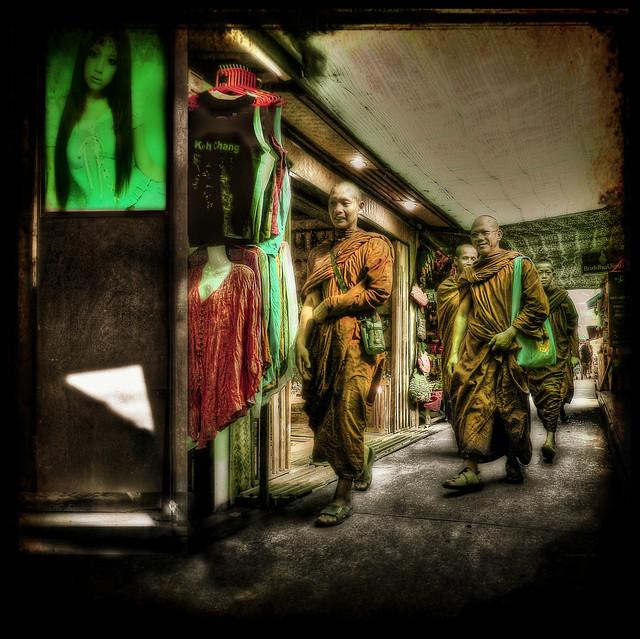 Buddhist Monks on Koh Chang. by SJC