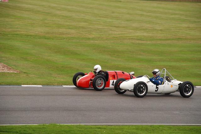 Staride-JAP Mk3 499cc 1953 (no. 4) and Cooper-JAP Mk11 498cc 1957 (no. 5) - Earl of March