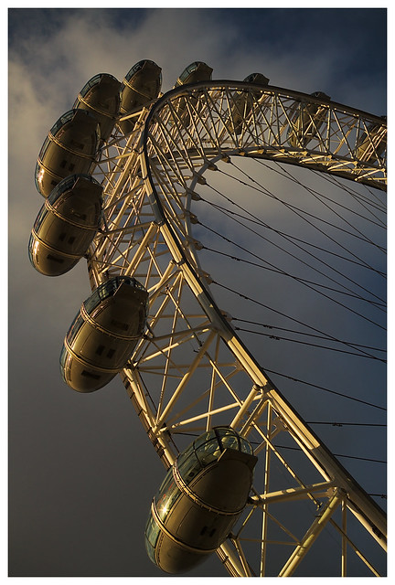 London Eye, high