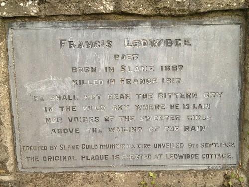 Francis Ledwidge, Slane Bridge | by OpenPlaques