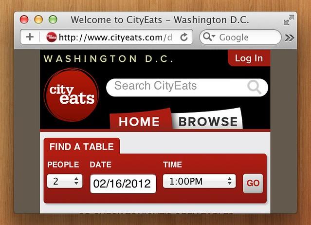 CityEats on HiDPI Safari with retina graphics