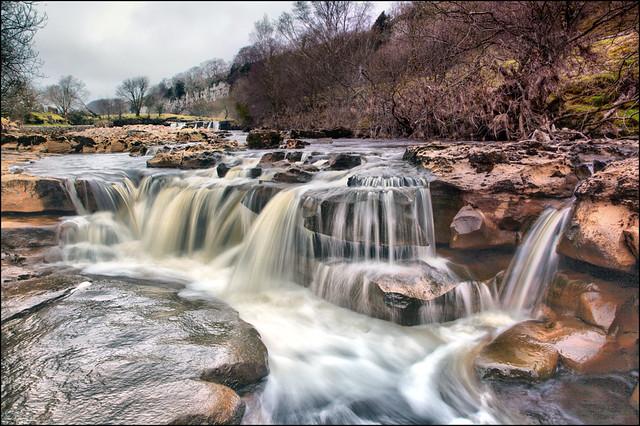 The river Swale below Wain Wath Force.