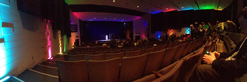 "The theater at Wauwatosa West High School just before the start of ""Joseph and the Amazing Technicolor Dreamcoat."" 
