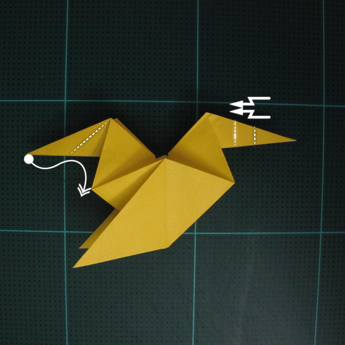 การพับกระดาษเป็นรูปไก่ (Origami Rooster) 007