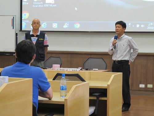 圖04林燦卿常監與王承賓秘書長聯合主持會務人員的交流
