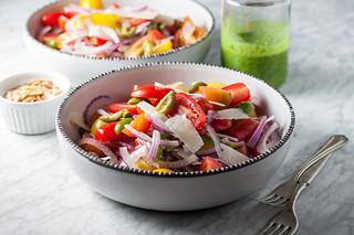 Spanish tomato salad ingredients | by tessascotolson