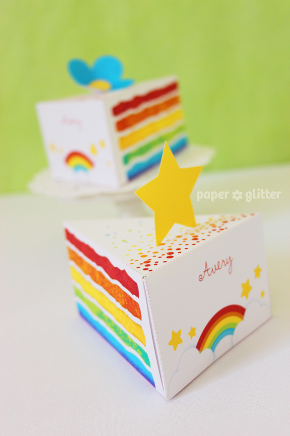 graphic regarding Printable Paper Crafts for Adults referred to as 06_paper+cake+rainbow+celebration+treatment+undergo+80+bash+decorations