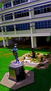 Blue Knight Statue- Ateneo de Davao University High School