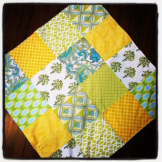 Green-yellow baby blanket