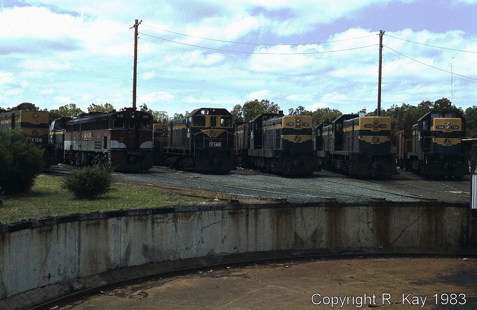 Locos stabled around the Ararat turntable-2 by Robert Kay