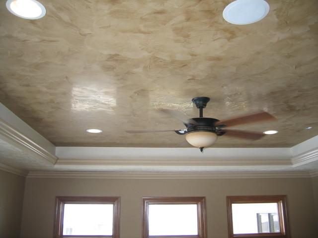 Tray Ceiling Venetian Plaster -