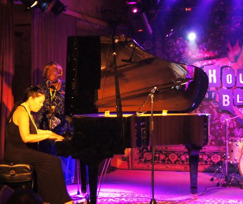Carol Fran accompanied by Cynthia Chen at the Parish for Piano Night. photo Bill Sasser