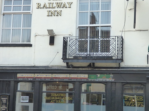 The Railway Inn - Clemens Street, Leamington Spa - pub sign - A real pub come on in
