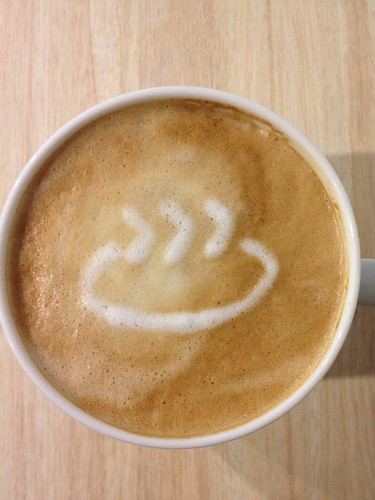 Today's latte, PySpa logo. | by yukop