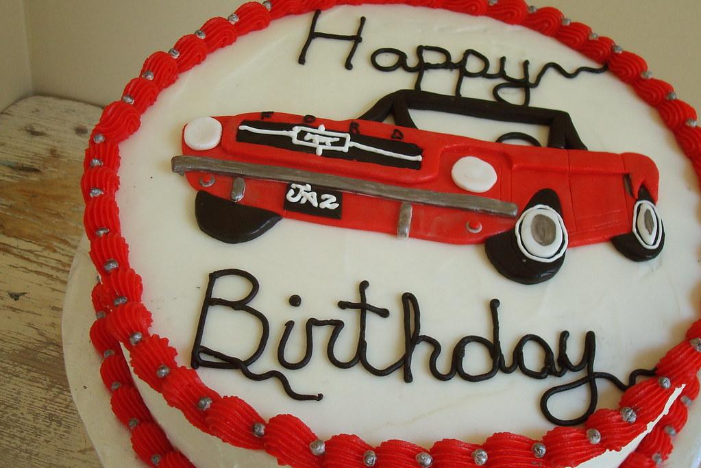 Jazz's Mustang Cake   1965 red mustang birthday cake   jpanattoni ...