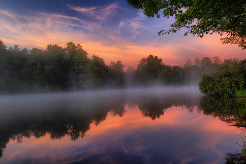 blue lake water price clouds sunrise reflections julian north ridge parkway carolina