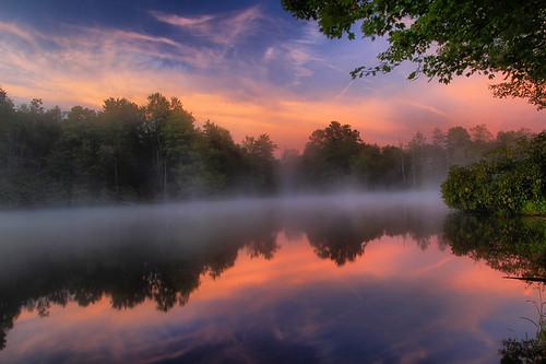 blue lake water price clouds sunrise reflections julian north ridge parkway carolina