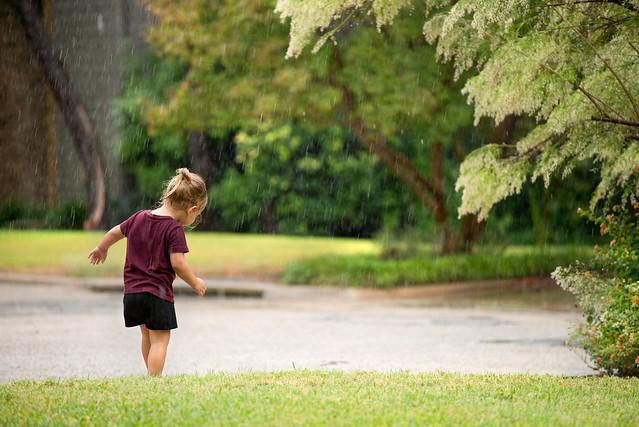 Reese in the Rain