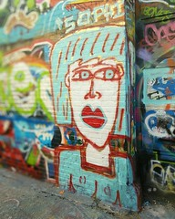 """SOPHIE"" in Graffiti Alley in Baltimore, Maryland."