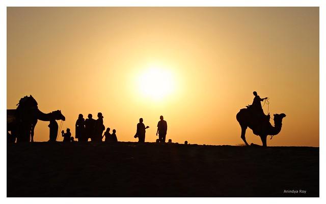 Evening drama,Jaisalmer