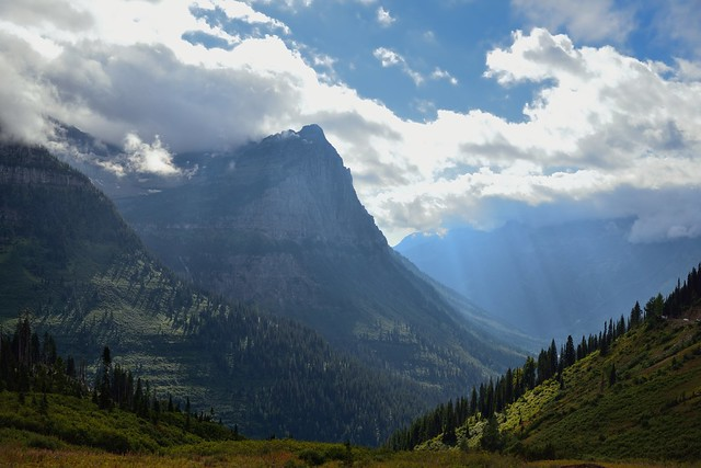 Mountains in  the Continental Divide of Glacier National Park