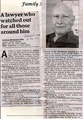 bills tony obituary published in The Advertiser, 11 December 2010