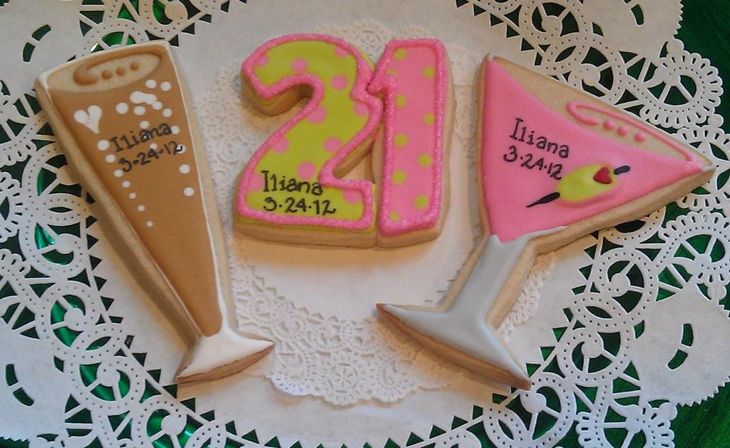 number 24 birthday cookies