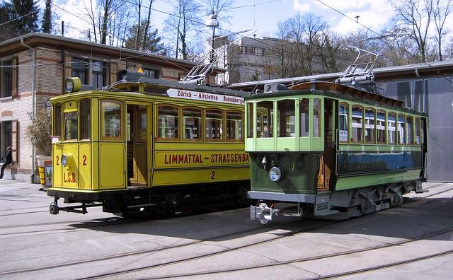 Tram Museum Zürich LSB 2 und ZOS 1