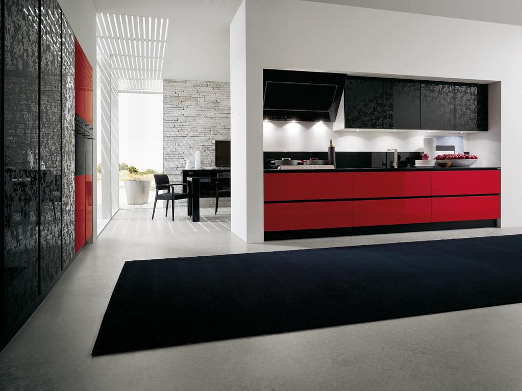 Mobili da cucina laccato rosso | Gicinque Cucine - cucina mo ...
