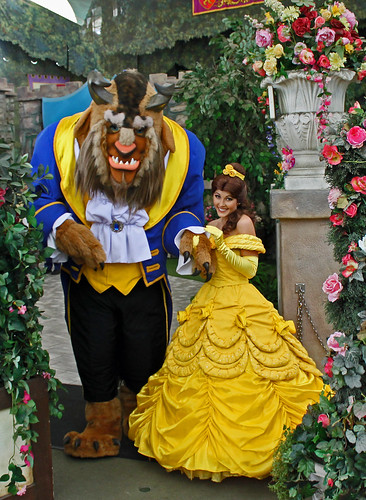 The Beast and Belle say hello to fans before leaving the Royal Walk | by Castles, Capes & Clones