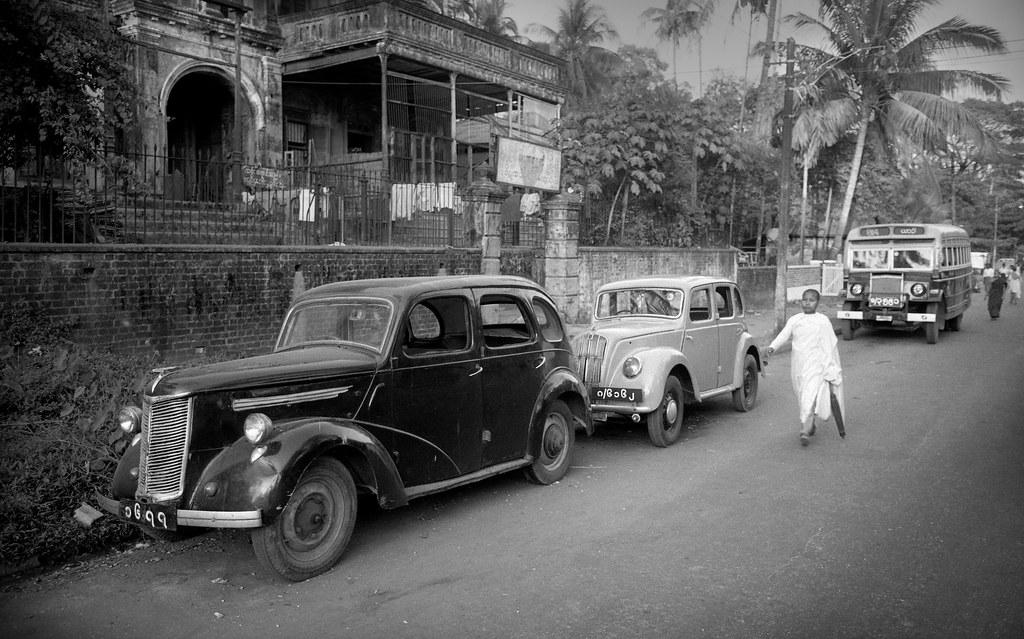 Ancient cars in Rangoon, Burma, 1983 | When Burma expelled f… | Flickr