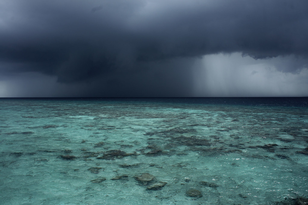 maldives hilton iru fushi resort + spa storm from villa