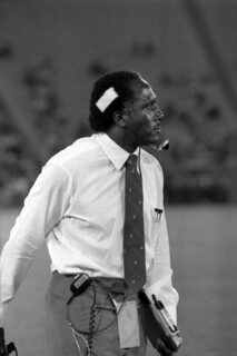 FAMU head football coach Rudy Hubbard on the sidelines: Tallahassee, Florida