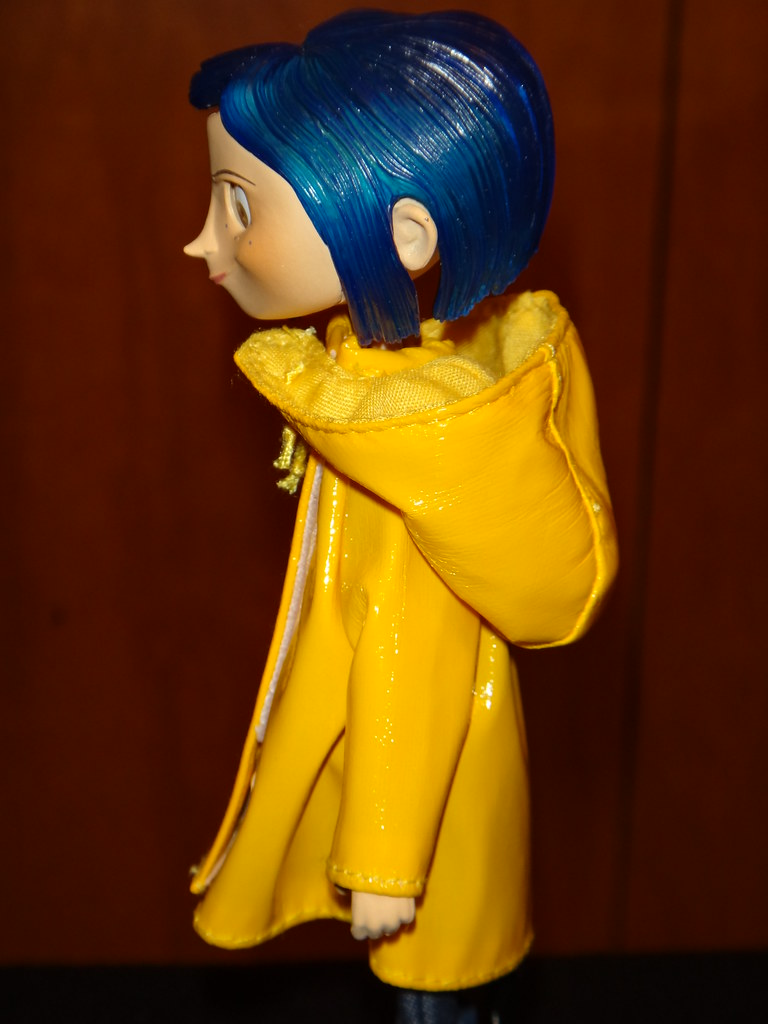 Neca Coraline Raincoat Bendy 7 Doll Deboxed Hood Off Midrange Right Side View A Photo On Flickriver