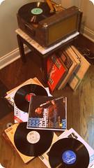 vintage recordplayer