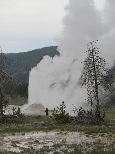 Yellowstone: Old Faithful geyser basin | by mormolyke