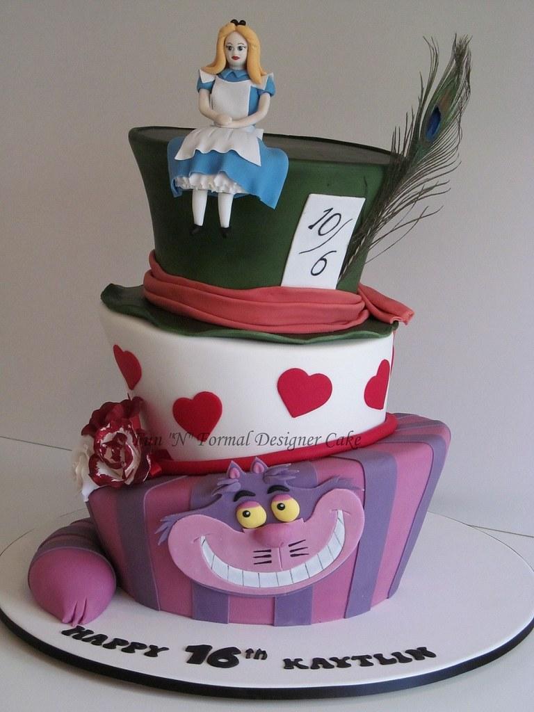 Incredible Madhatter Alice In Wonderland Birthday Cake Melissa Woodward Funny Birthday Cards Online Alyptdamsfinfo