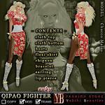 FASHION STORE *YB* QIPAO FIGHTER ruby