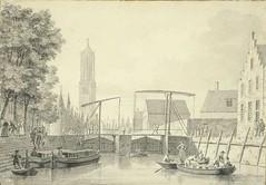 <p>Stadsbuitengracht noordzijde, zicht op de Weerdsluis. Coll. Het Utrechts Archief.</p>