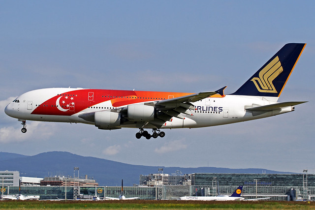 Singapore Airlines Airbus A380-841 9V-SKI FRA 06-07-16