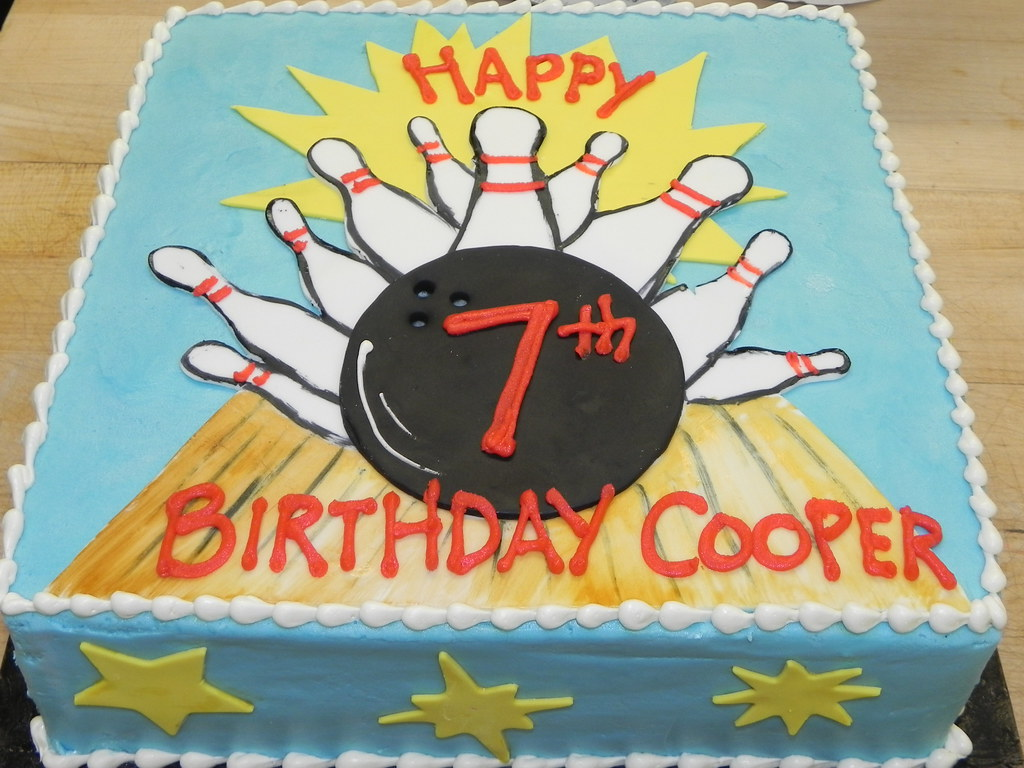 Miraculous Bowling Birthday Cake Haines Barksdale Flickr Personalised Birthday Cards Paralily Jamesorg