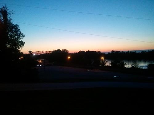 bridge sunset sky night missouri boonville