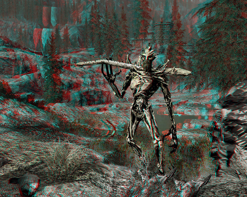 Skyrim Imagery - Monster Mod Treant 3D (Anaglyph) | This spr