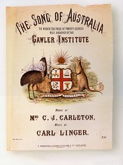"""The cover of """"The Song of Australia""""."""