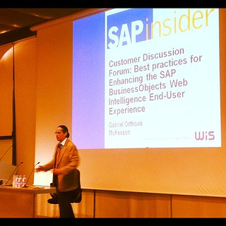 .@orthous #bi2012 At his best hosting customer discussion forum : Best Practices for enhancing SAP #businessobjects Web Intelligence end-user experience | by Martin Gillet
