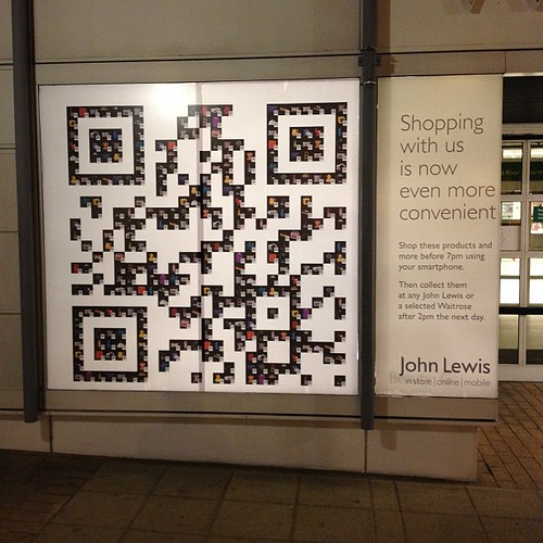 Qr code window shopping at John Lewis Kingston | by jamespoulter