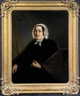Portret van Anna Maria Agnes ten Brink (?-1859), echtgenote van Michael Anton Sinkel. Anoniem Noord-Nederlands, ca. 1830 (collectie Centraal Museum).