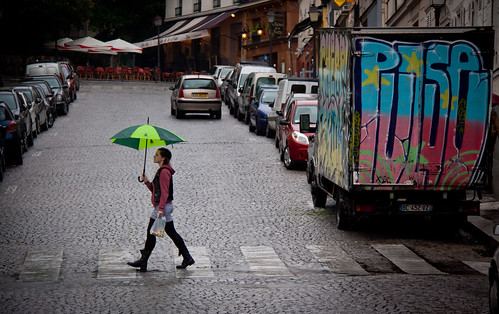 Walking in the Rain - Abbesses, Montmartre - Paris, France | by ChrisGoldNY