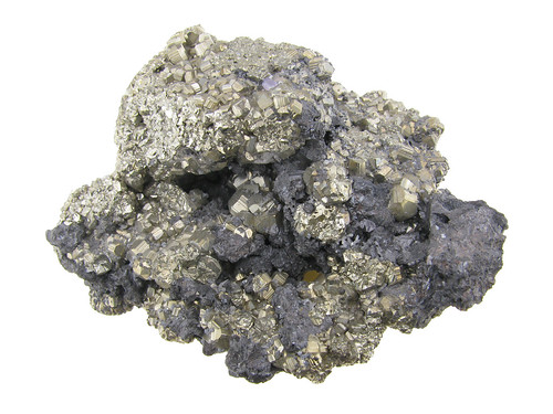 Pyrite Crystals With Hematite | by Paul's Lab